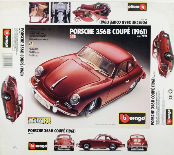 My very first photos for Bburago. Porsche 356B for Assembly Kits