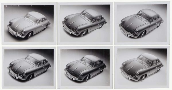 Set of six Bburago Polaroids for 7021 Kit Porsche 356B