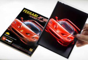 0010012 Bburago Ferrari F50 Topolino Adv and original dia