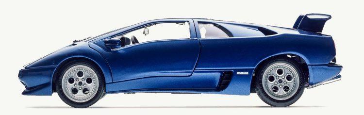 Burago 3018 Lamborghini Metal Blue Diablo_Bburago_metal-blue