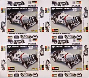 Bburago Mercedes Benz SSK Mille Miglia 1931 assembly kit printi sheet