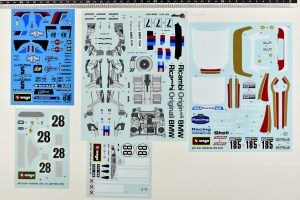Bburago original vintage decals set code 5506, 5513. 5121, 5106, 5173