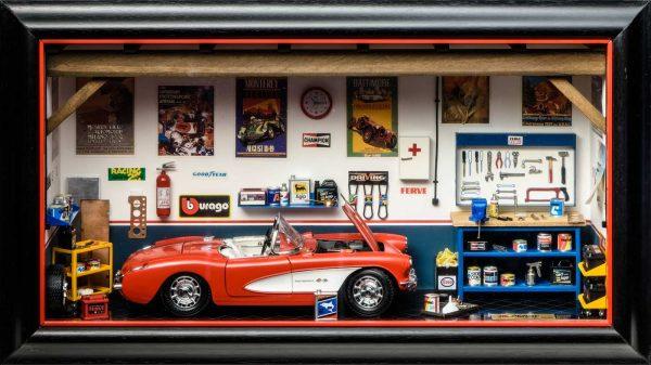 Bburago Garage Mmonza 3024 Chevrolet Corvette