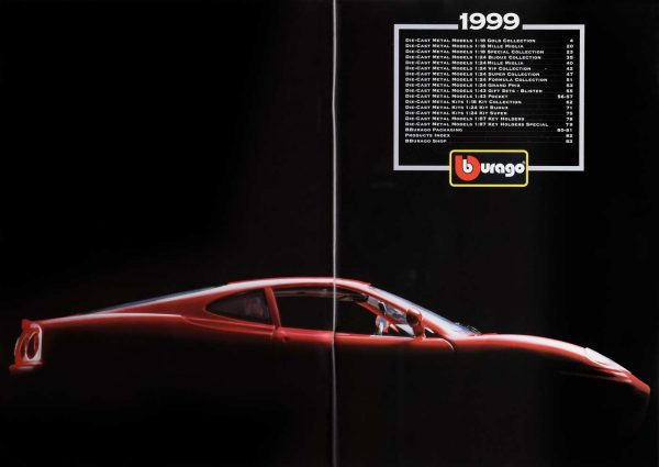 Bburago 1999 Catalog Index with 3358 Ferrari 360 Modena