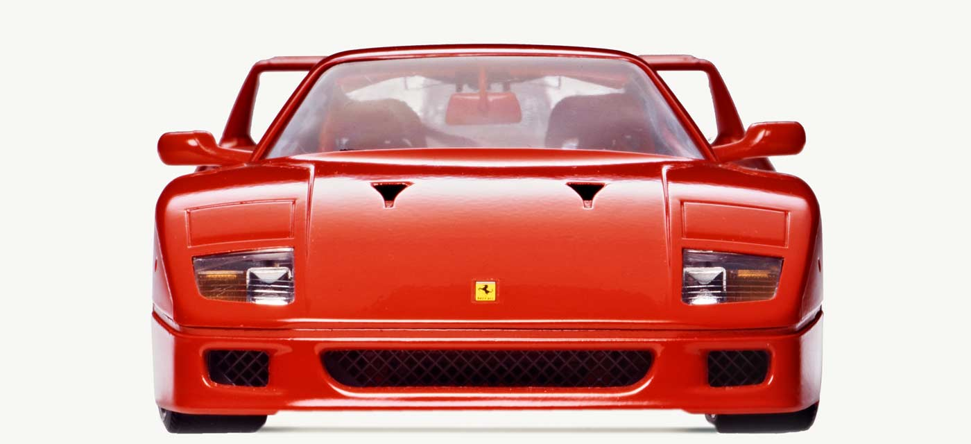 Bburago 1532 Ferrari F40 Front View isolated