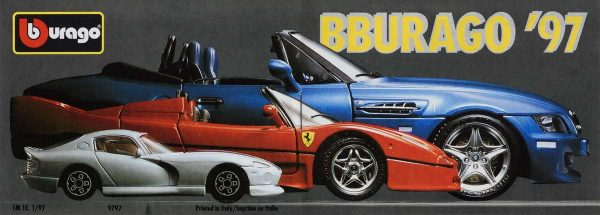 Bburago Pocket Catalog Cover 1997