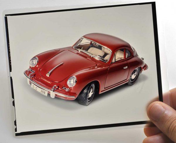 "Bburago 7021 Kit Porsche Original Vintage 4x5"" Slide 356B Coupe Original Vintage 4x5"""