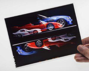 Original Triple Exposure Slide for Bburago Pocket Catalog 1997