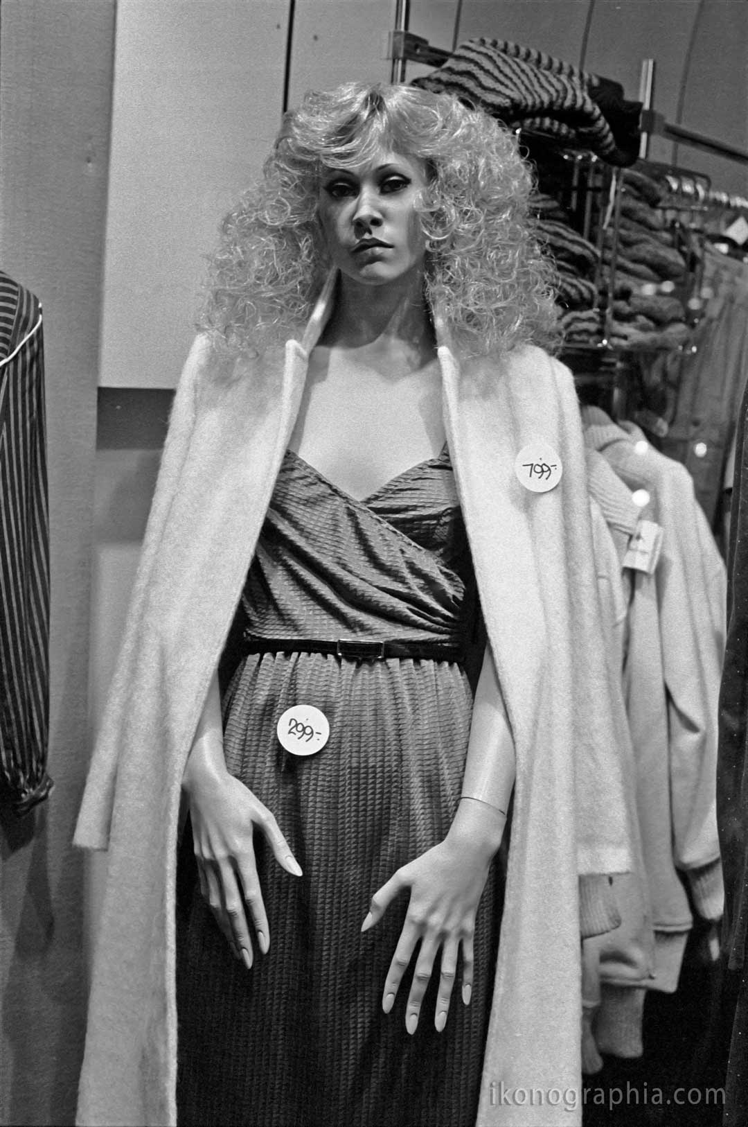 "Store window. Braunsweig, Germany, 1979. From ""Plastic Girls"" by Roberto Bigano"