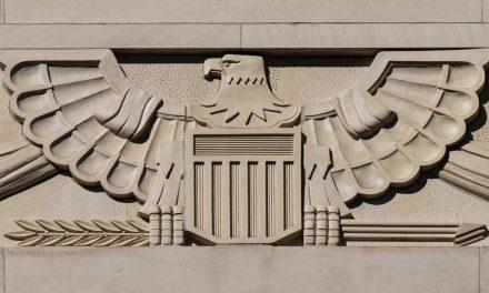US Bald Eagle Emblem in 1930s Art Deco Architecture