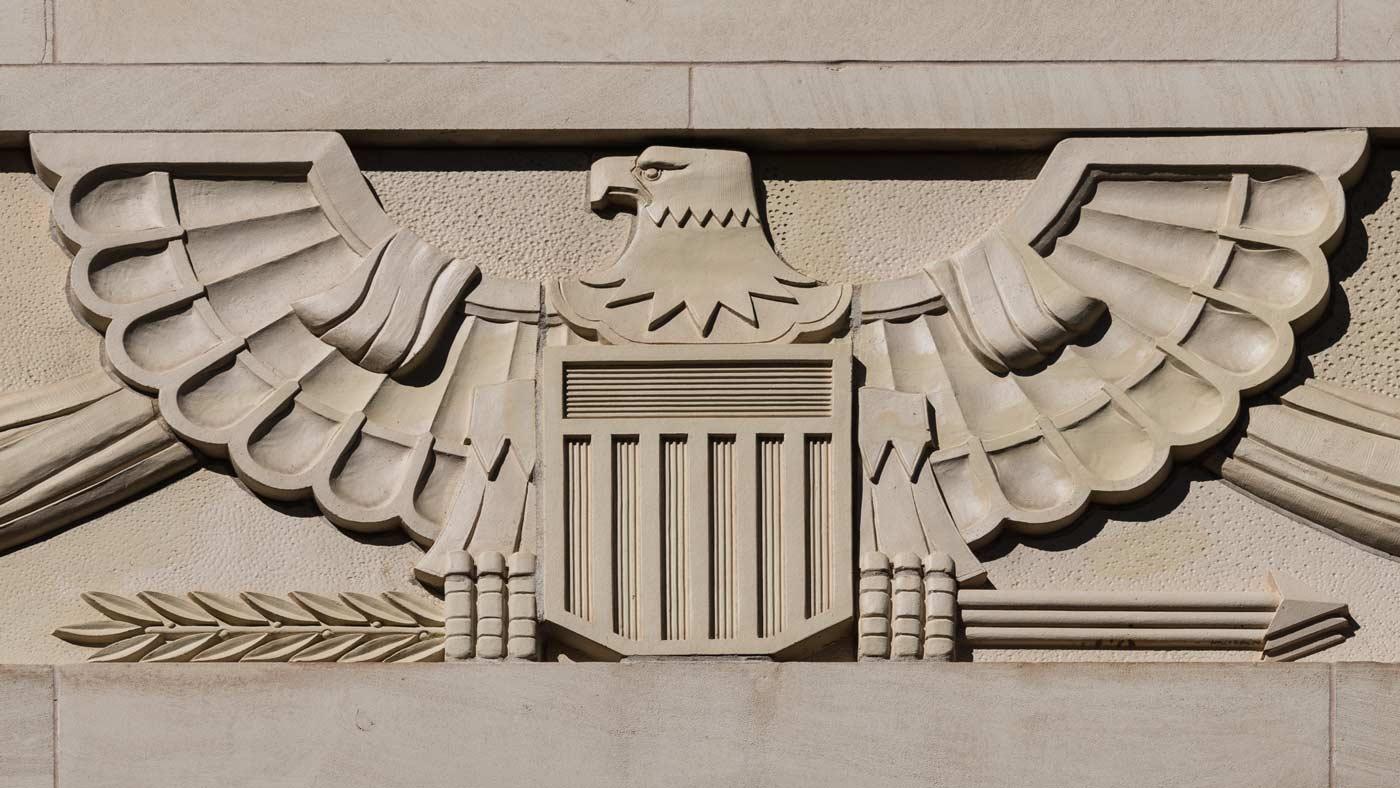Art Deco Bald Eagle - U.S. Courthouse, El Paso, Texas 1922 - Carol M. Highsmith