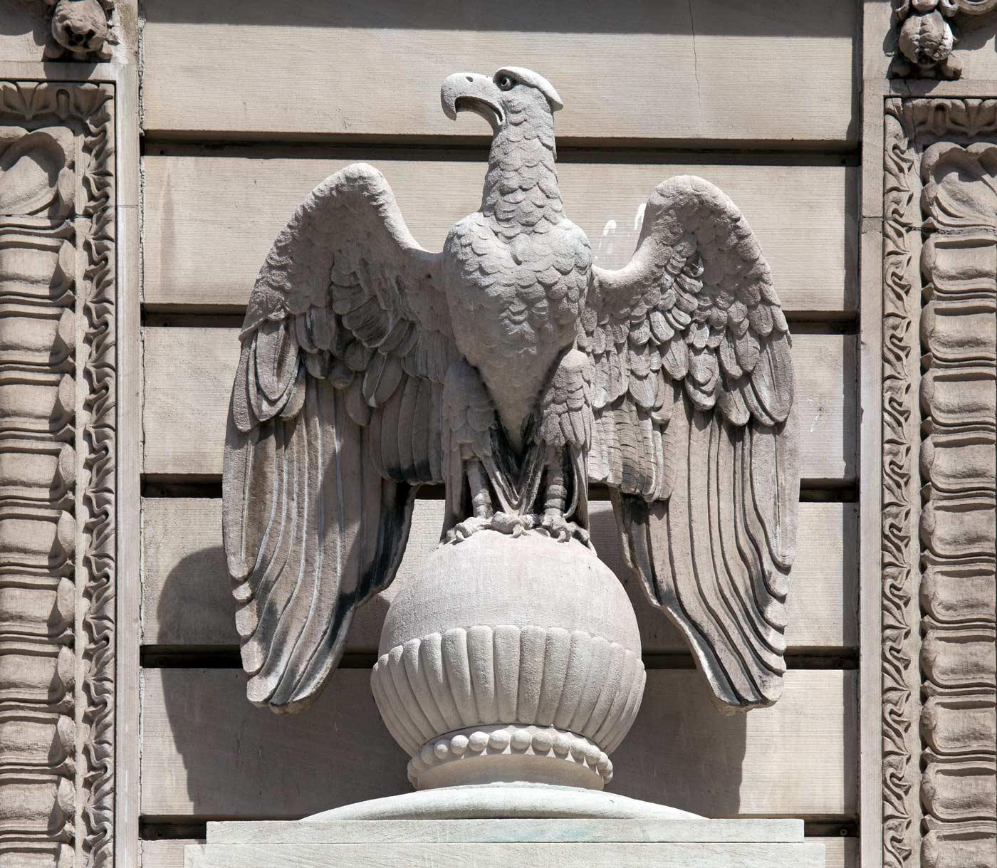 Art Deco Bald Eagle - Art Deco Bald Eagle - U.S. Courthouse, El Paso, Texas 1922 - Carol M. Highsmith