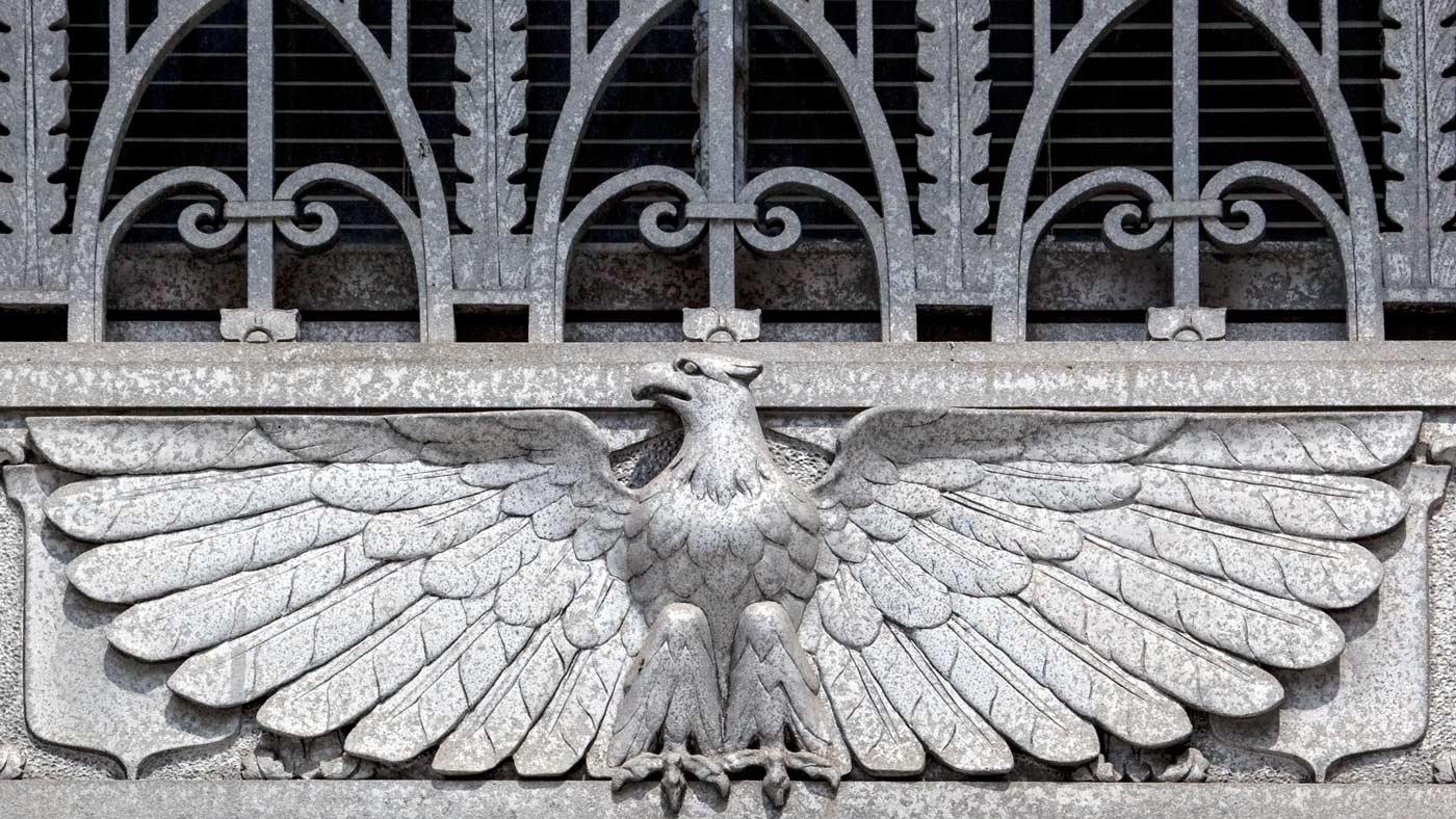 Art Deco Bald Eagle 1932 Clarkson S. Fisher Federal Building & U.S. Courthouse, Trenton, NJ - Carol M. Highsmith