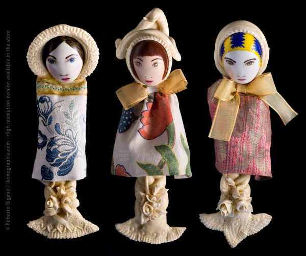 Traditional Easter Bread & Egg Dolls dressed in fabric from Sardinia