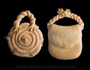 Toy bread in form of bag – Pane giocattolo a forma di borsa. Dorgali, Nuoro.