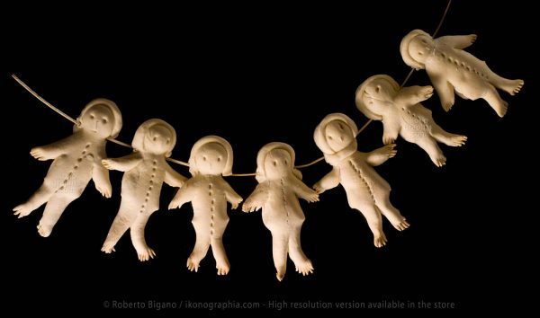 Pane è sa gida. Weekly calendar. Any day a puppet is eaten, to count the remaining days to the next baking day.