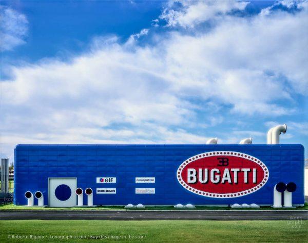 """Bugatti Automobili. The """"Prove Motori"""" development building."""