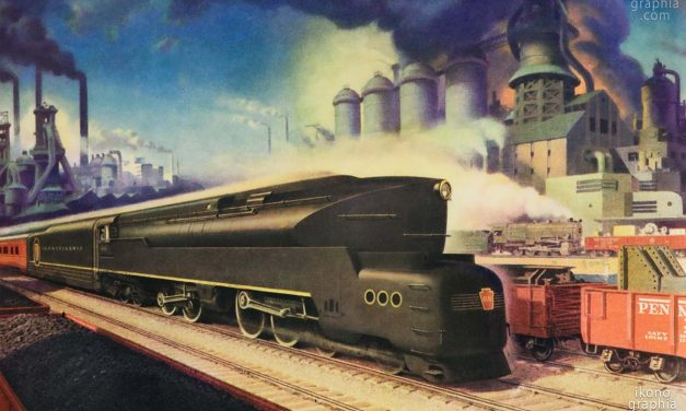 American Streamlined Trains. Striking Ads of the 1940s