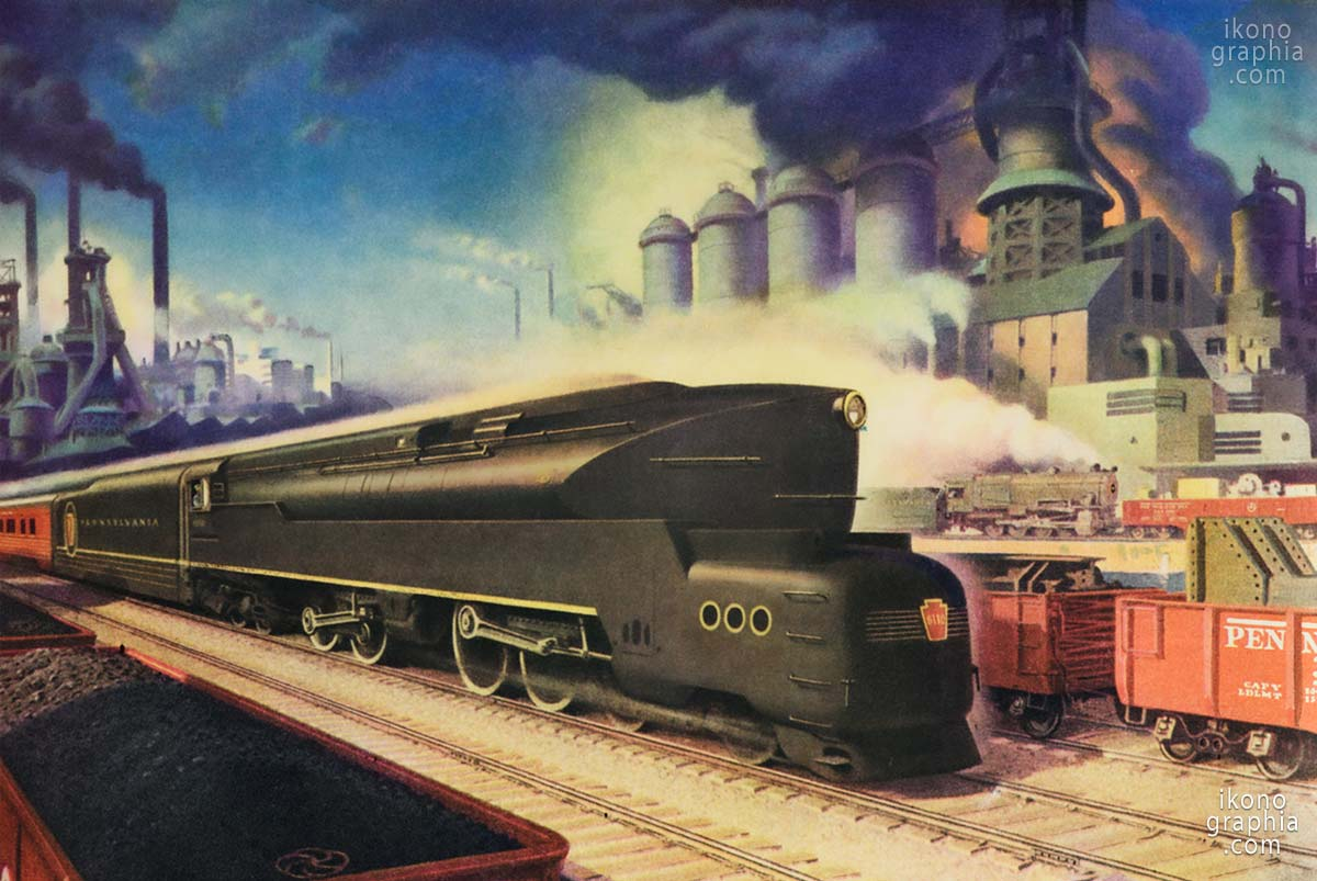 Power to Pace the Future. A Streamlined train of American Railroads.