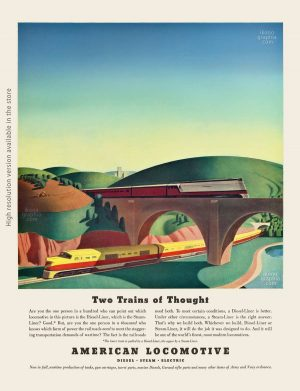 American Locomotive. Two Trains of Thought. Life Magazine. February 16, 1942