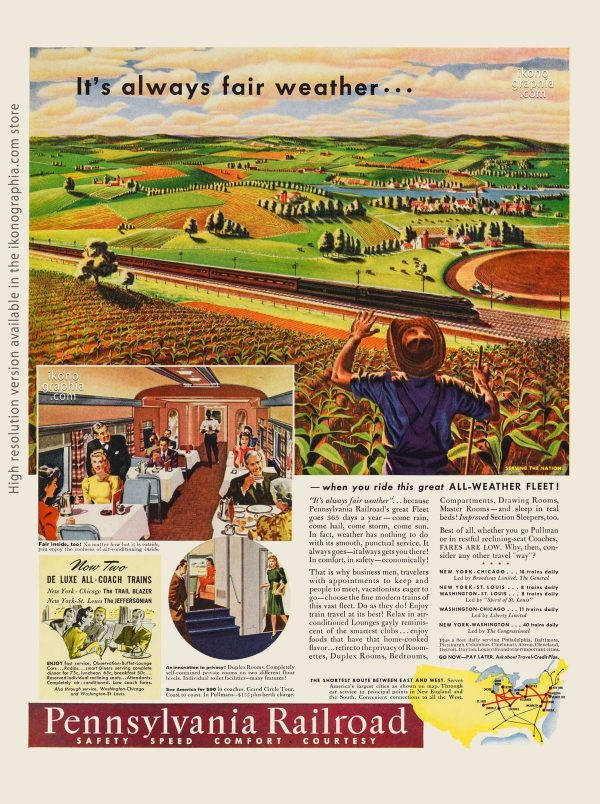 It's always fair weather. Pennsylvania Railroad ad - Life. June 30, 1941
