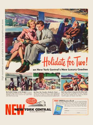 Holiday for Two! New York Central Ad - Life. May 31, 1948