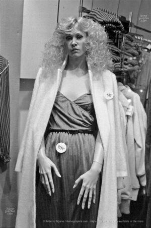 "0364_15 Dummy in Copenhagen, Denmark, September 1979 | From ""Plastic Girls"" series. Nikon FM 50mm f 1.4 – Ilford HP5 Photo by Roberto Bigano. Buy this image in the ikonographia.com store."