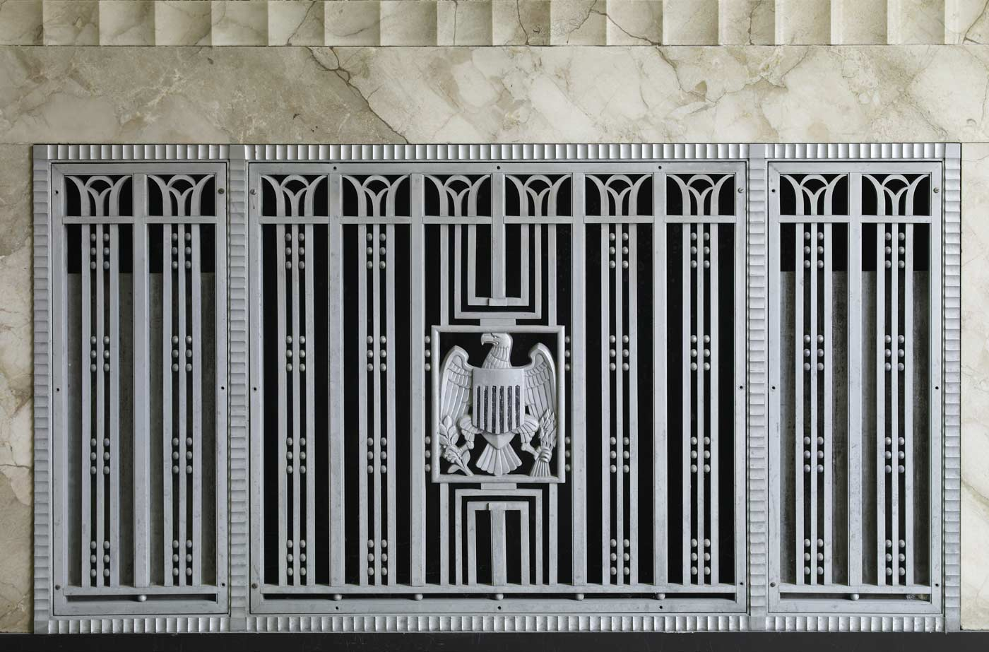 Interior grill detail, James T. Foley U.S. Post Office and Court