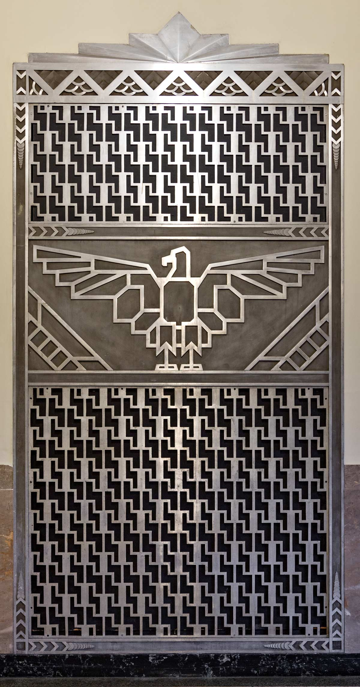 1934 Interior grill with eagle. Art Deco style Federal Building