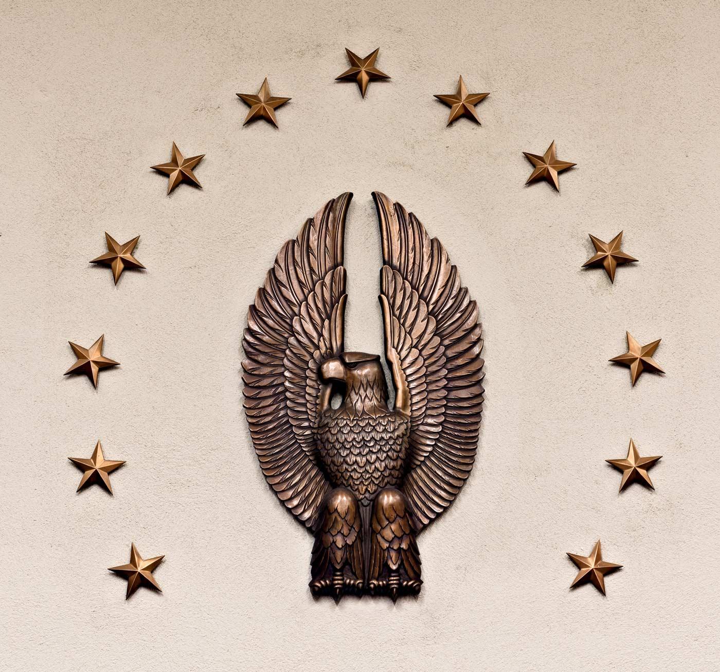 1936 Courtroom eagle at U.S. Court House, Austin, Texas