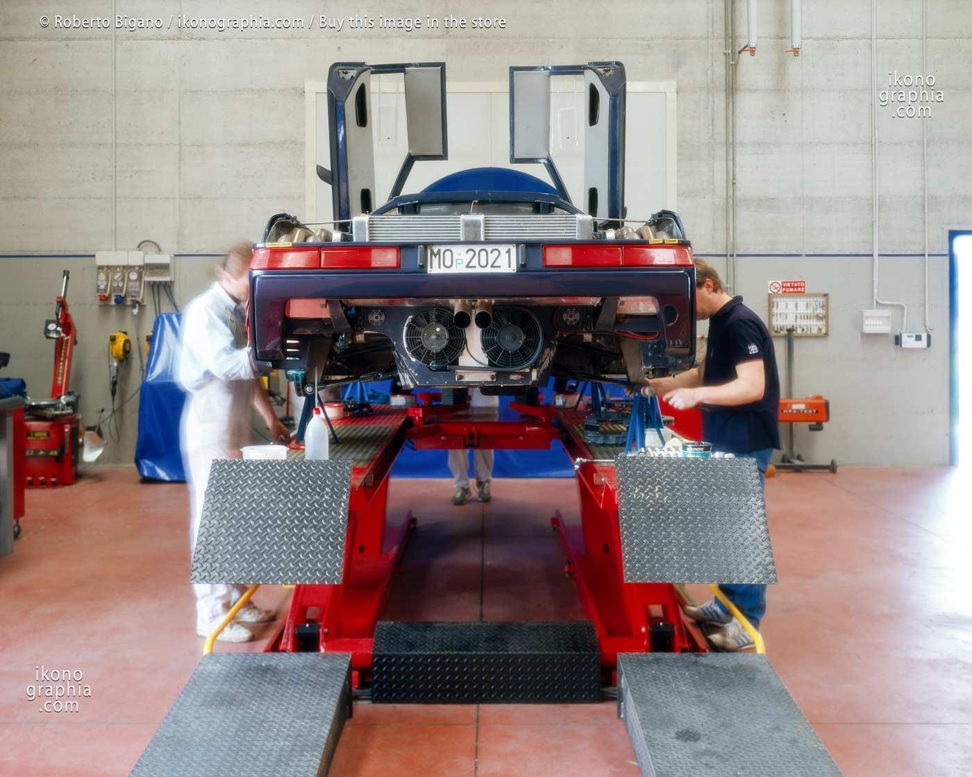1937_60 Works in progress at Bugatti Automobili. . Photo by Roberto Bigano. Buy this image in the ikonographia.com store.