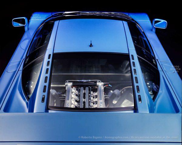 An impressive view of the Bugatti EB 110 as restyled by Gianpaolo Benedini. Photo Roberto Bigano. Buy this image in the ikonographia.com store.