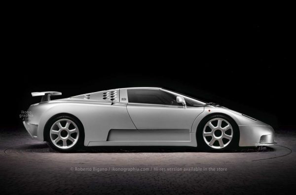 Bugatti EB110 Supersport. This performance-oriented version reached the max speed of 351 km/h. Photo Roberto Bigano. Buy this image in the ikonographia.com store.