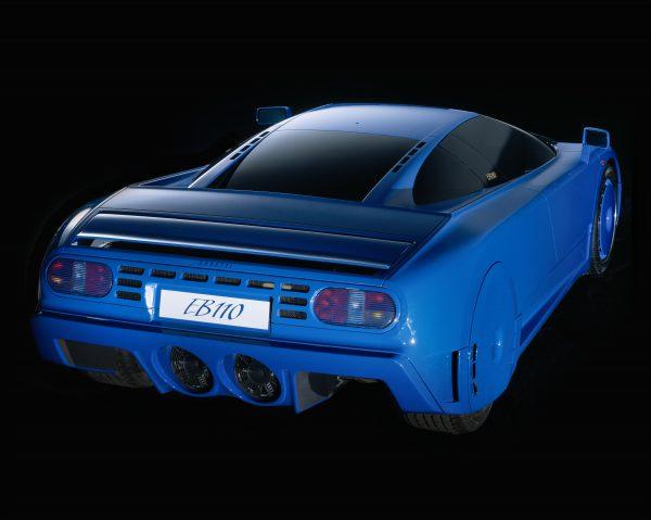 The Bugatti EB 110 Model as originally designed by Gianpaolo Benedini 1991. Front view. Photo Roberto Bigano. Buy this image in the ikonographia.com store.