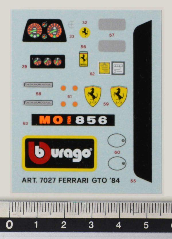 Bburago-7027-Ferrari-GTO-1984-kit-decals