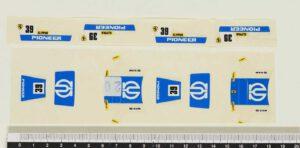 Bburago 4148 Ferrari 308GTB Rally. Original sticky labels used in production line