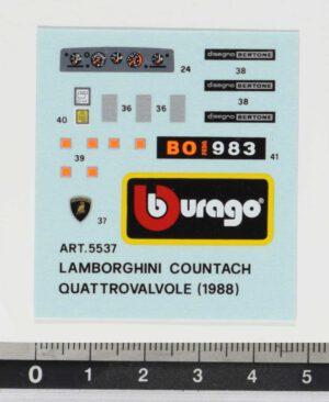 Bburago 5537 Lamborgini Countach Quattrovalvole 1988 Decals