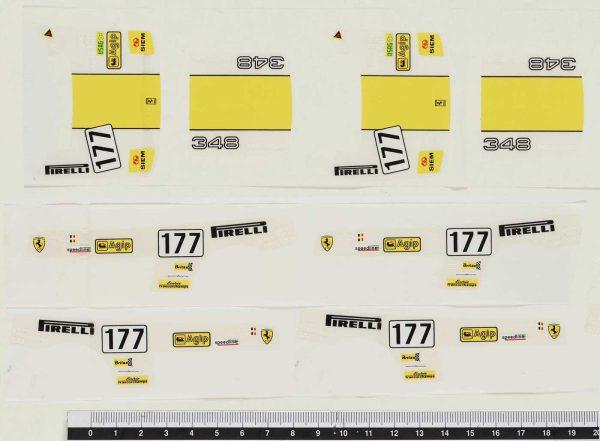 Bburago 0129 Ferrari 348TB Evoluzione Sticky Labels used in production line. Extremely rare.